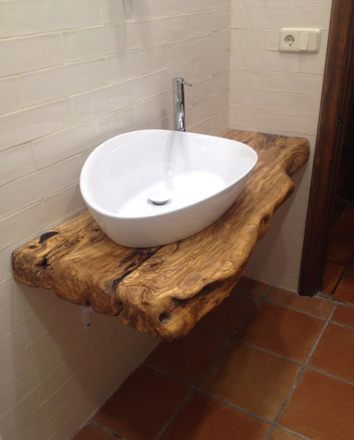 Genial encimeras ba o madera fotos de bano de madera a - Encimeras para banos ...