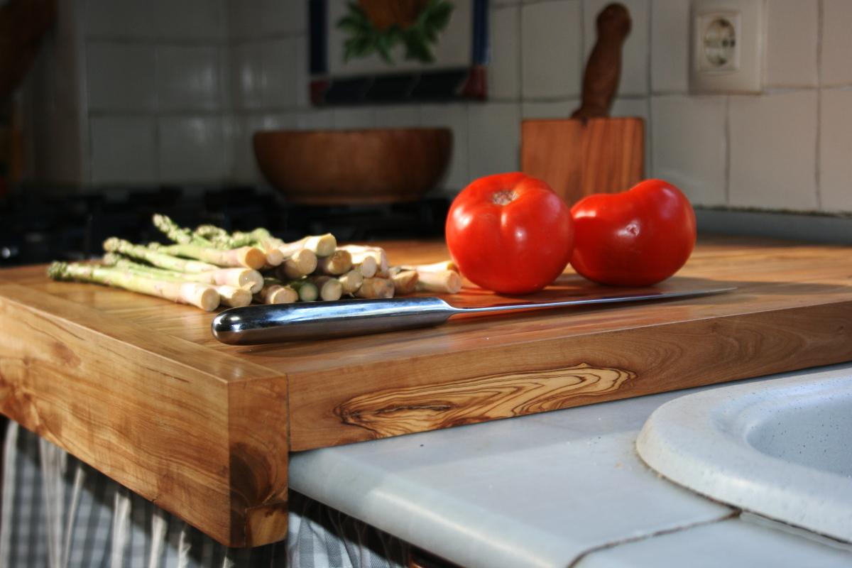 Tablas de cocina de madera de olivo - Medidas de encimeras de cocina ...