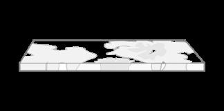 tablero de rodajas de microcemento