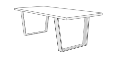 patas de mesa de tubos para mesa de comedor