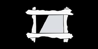 espejo de tablones de olivo