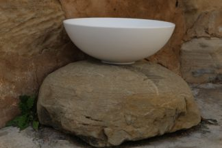 lavabo blanco bol de solid surface