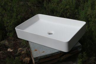 lavabo rectangular esquinas redondeadas