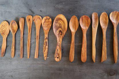 cuchara de cocina de madera de olivo