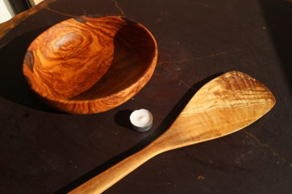 pala paella de madera de olivo