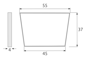 patas mesa centro trapecio