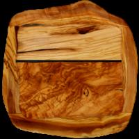 modelo actual de plato llano de madera de oliva