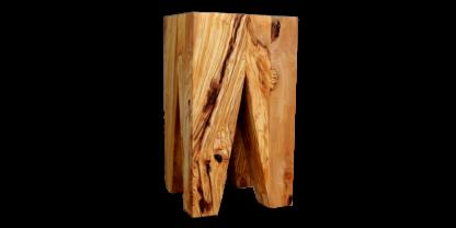 taburete de madera de olivo moderno